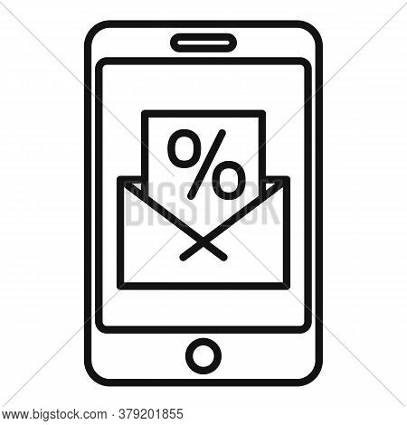 Conversion Rate Smartphone Icon. Outline Conversion Rate Smartphone Vector Icon For Web Design Isola
