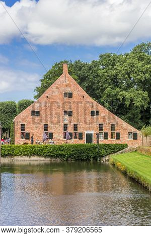 Uithuizen, Netherlands - July 29, 2020: Restaurant At The Castle Moat In Uithuizen, Netherlands