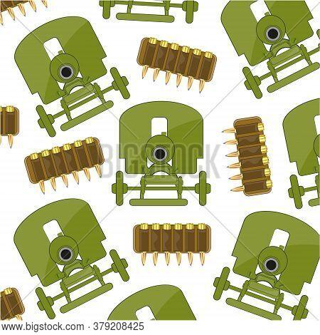 Weapon Machine Gun Soviet Sample And Patrons Pattern
