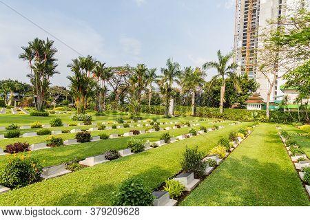Jakarta, Indonesia - October, 28, 2017: English Field Of Honor Menteng Pulo In Jakarta, Java Island