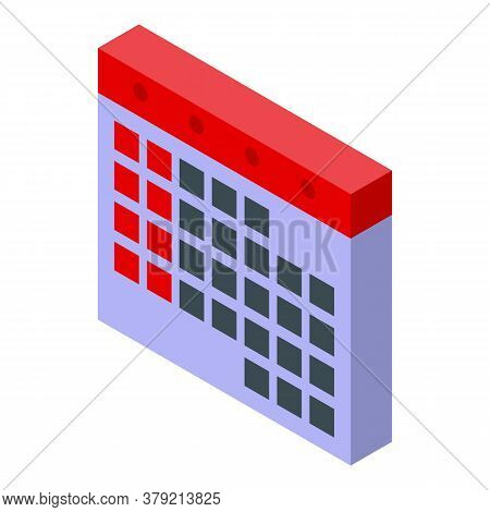 Audit Calendar Icon. Isometric Of Audit Calendar Vector Icon For Web Design Isolated On White Backgr