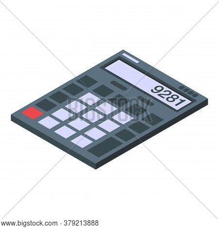 Auditor Calculator Icon. Isometric Of Auditor Calculator Vector Icon For Web Design Isolated On Whit