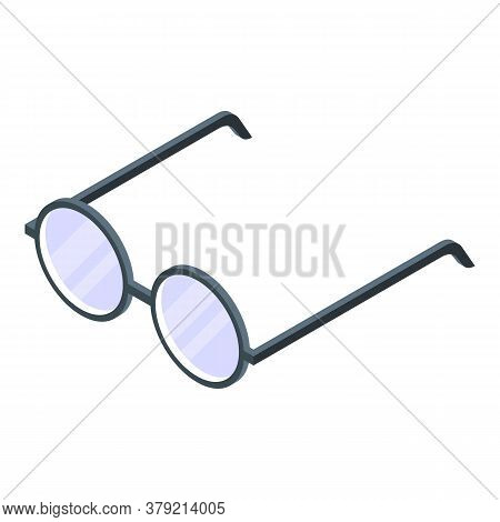 Auditor Eyeglasses Icon. Isometric Of Auditor Eyeglasses Vector Icon For Web Design Isolated On Whit