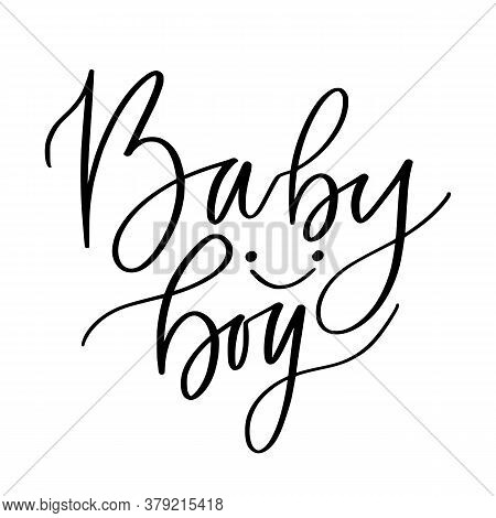 Baby Girl Text. Kids Hand Lettered Print. Childish T-shirt Design