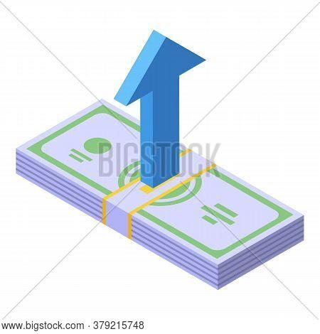 Breakthrough Cash Money Icon. Isometric Of Breakthrough Cash Money Vector Icon For Web Design Isolat