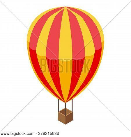 Breakthrough Air Balloon Icon. Isometric Of Breakthrough Air Balloon Vector Icon For Web Design Isol