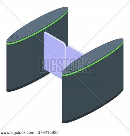 Turnstile Barrier Icon. Isometric Of Turnstile Barrier Vector Icon For Web Design Isolated On White