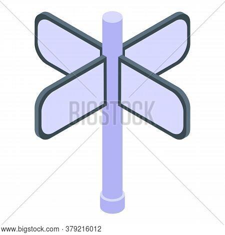 Turnstile Cross Type Icon. Isometric Of Turnstile Cross Type Vector Icon For Web Design Isolated On