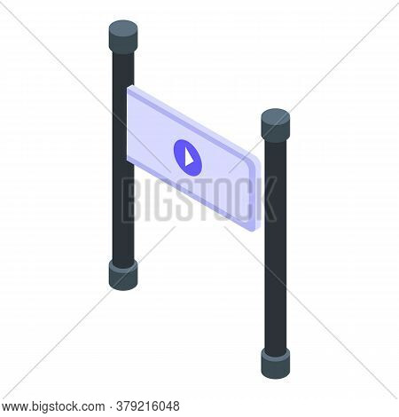 Turnstile Access Icon. Isometric Of Turnstile Access Vector Icon For Web Design Isolated On White Ba