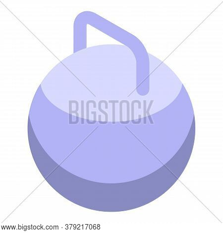 Gym Kettlebell Icon. Isometric Of Gym Kettlebell Vector Icon For Web Design Isolated On White Backgr