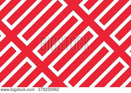 Simple Geometric Pattern In The Colors Of The National Flag Of Austria