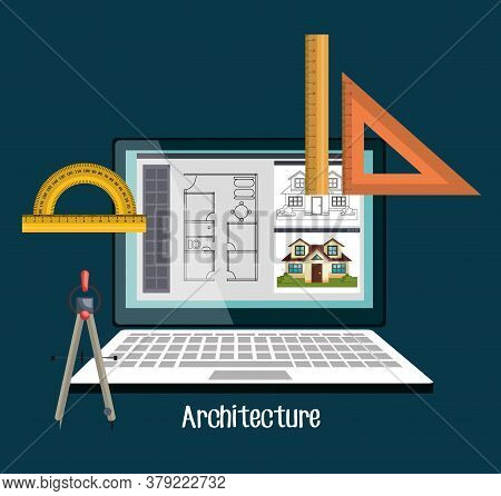 Architecture Project Design, Vector Illustration Eps10 Graphic