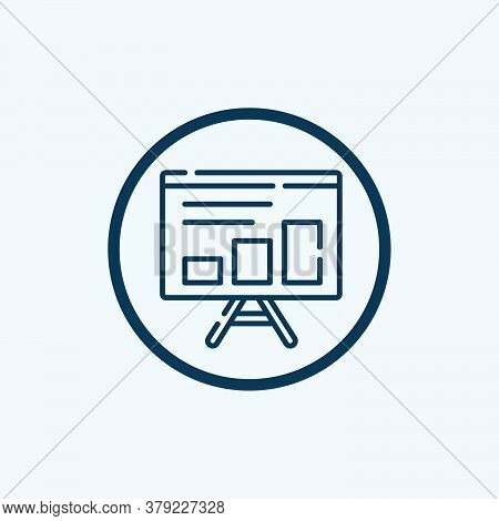 The Graph On The Flip Chart Icon. Outline The Graph On The Flip Chart Vector Icon For Web Design Iso