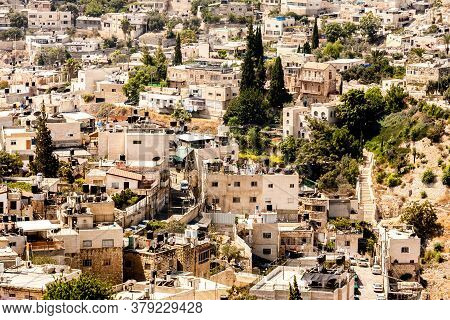 Jerusalem, Israel - September 11, 2011: View Of Jerusalem Old City, From The Mount Of Olives, Israel