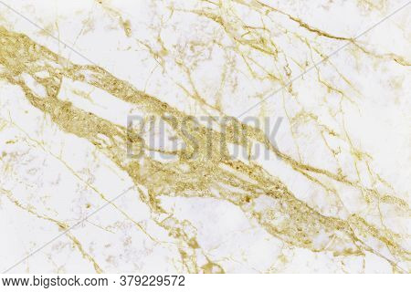 Gold White Marble Texture Background With Detail Structure High Resolution, Abstract  Luxurious Seam