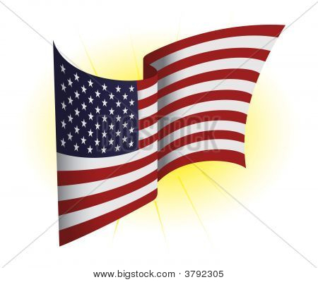 Us Waving Flag