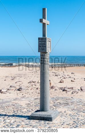 Cape Cross, Namibia - June 7, 2011: Replica Of The Cross Planted By Diogo Cao In 1486 At Cape Cross,