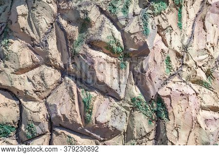 Natural Stone Texture In The Garden Landscape