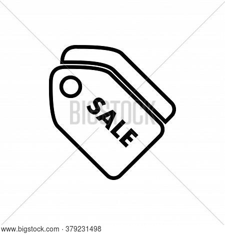 Sale Tag Line Icon Vector. Sale Tag Icon Isolated On White Background. Sale Tag Icon Simple And Flat