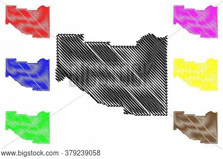 Madison County, Idaho (u.s. County, United States Of America, Usa, U.s., Us) Map Vector Illustration