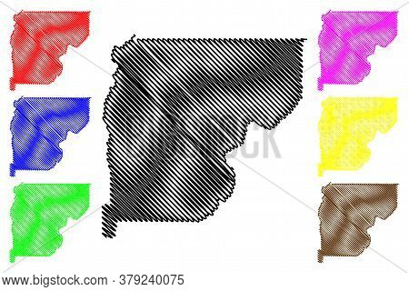 Valley County, Idaho (u.s. County, United States Of America, Usa, U.s., Us) Map Vector Illustration,