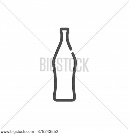 Vermouth Bottle In Flat Style On White Background. Simple Template Design. Beverage Icon Design. Iso