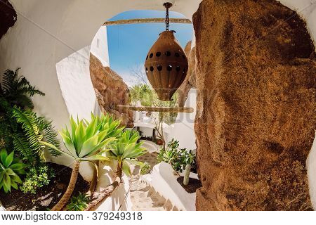 July 29, 2020. Lanzarote, Spain. The Lagomar Museum, Omar Sharif House