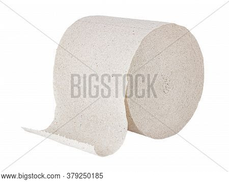 Cheap Grey Toilet Paper In Roll Isolated On White Background