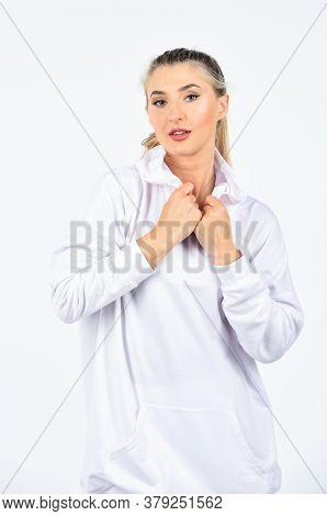 Feel So Sporty. Cute Girl In Training Clothes. Fashionable Sportswear. Trendy Sportswear. Sport Styl