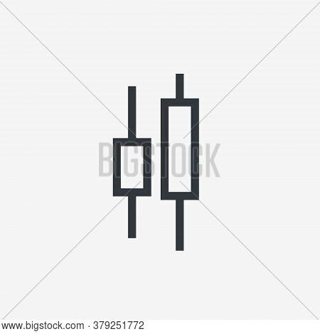 Candlestick Chart Icon. Stock Marke Exchange Simbol. Vector Illustration Isolated On White Backgroun