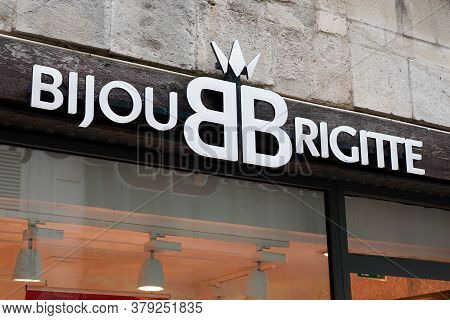 Bordeaux , Aquitaine / France - 07 28 2020 : Bijou Brigitte Store Logo Sign And Text Of Company Sell