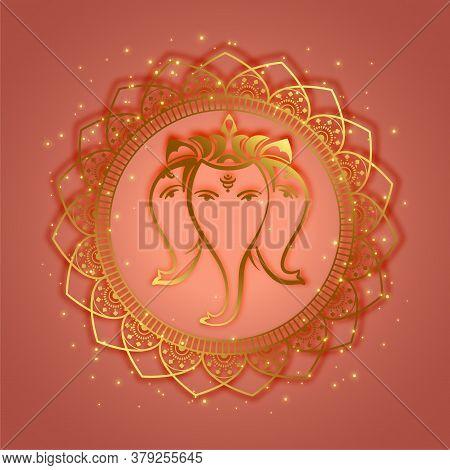 Traditional Lord Ganesha Ethnic Style Background Vector Design Illustration