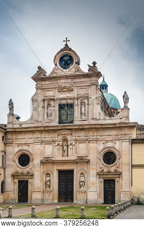 San Giovanni Evangelista Is A Church In Parma. The Marble Facade Of The Church Was Designed By Simon