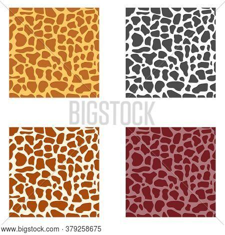 Leopard Skin, Giraffe. Leopard, Giraffe Skin Texture. Vector Illustration. Vector.