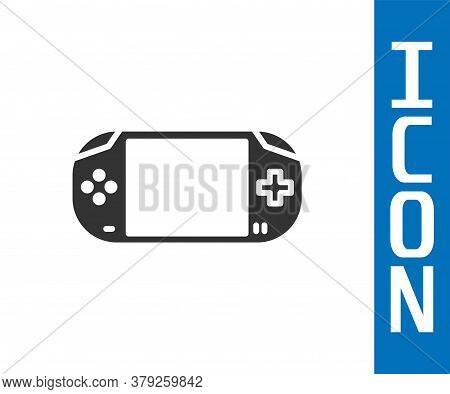 Grey Portable Video Game Console Icon Isolated On White Background. Gamepad Sign. Gaming Concept. Ve