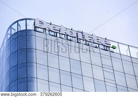 Paris, France - November 11, 2019: Deloitte Building In Paris La Defense, France. Deloitte Is One Of