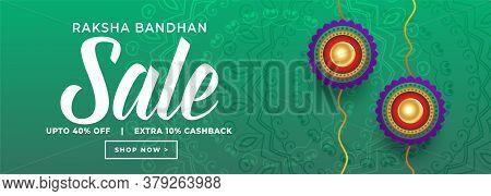 Rakshabandhan Festival Sale Banner Vector Design Illustration