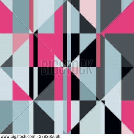 Seamless Geometric Pattern  In Style Of Patchwork. Vector Illustration.