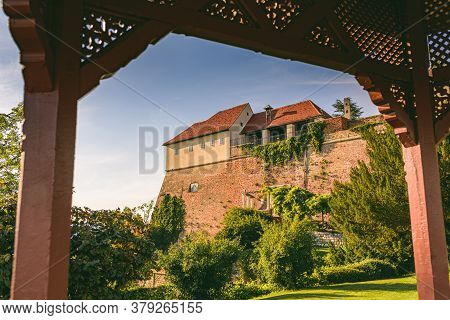 View From Pavillion On Schlossberg Hill At Castle Fortress