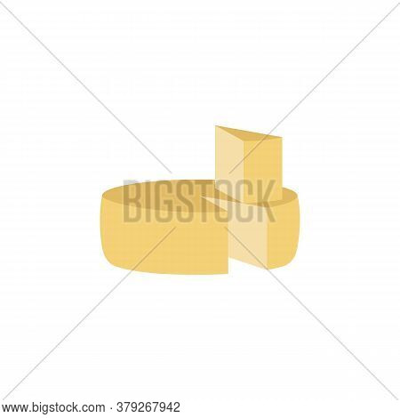 Parmesan Cheese Colored Icon. Signs And Symbols Can Be Used For Web, Logo, Mobile App, Ui, Ux