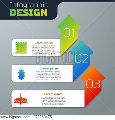 Set Makeup Mirror With Lights, Mirror And Chandelier. Business Infographic Template. Vector