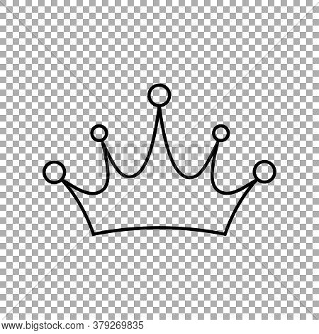 Crown Icon . Princess Crown Icon Isolated On Transparent Background. Vector Illustration