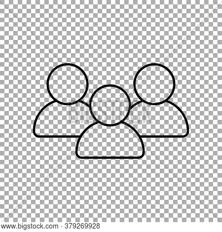Talking People Vector Icon Isolated On Transparent Background
