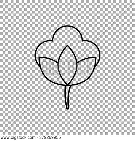 Cotton Sign Icon Isolated On Transparent Background. Vector Illustration