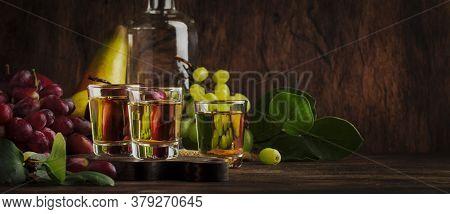 Rakija, Raki Or Rakia - Balkan Strong Alcoholic Drink Brandy Type Based On Fermented Fruits, Vintage