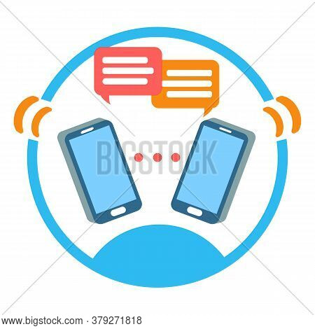 Group Chat Dialog Sign. Online Social Networking, Team Chatting. Concept Global Media Communication,