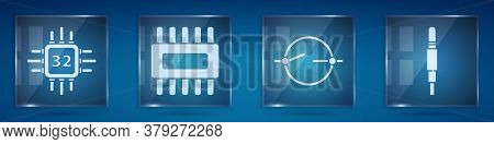 Set Processor With Microcircuits Cpu, Processor With Microcircuits Cpu, Electric Circuit Scheme And