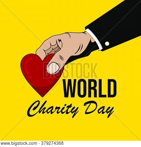 Giving Heart Shape Vector Illustration. Charity Jar Vector Illustration. Good Template For Charity O
