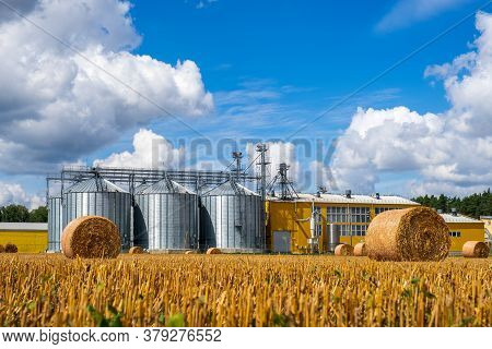 Agribusiness Concept.agro Manufacturing Plant For Processing Drying Cleaning And Storage Of Agricult