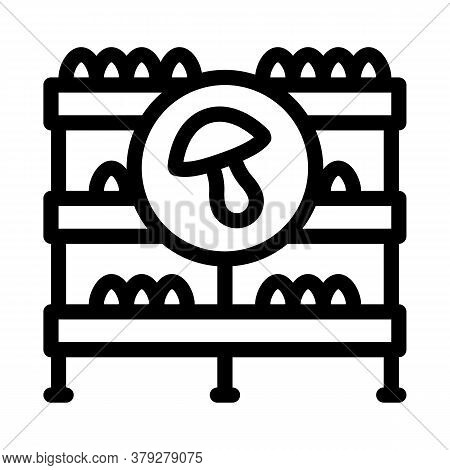 Mushroom Farm Storage Icon Vector. Mushroom Farm Storage Sign. Isolated Contour Symbol Illustration